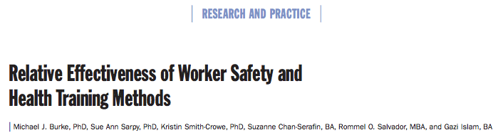 health and safety awareness training research study